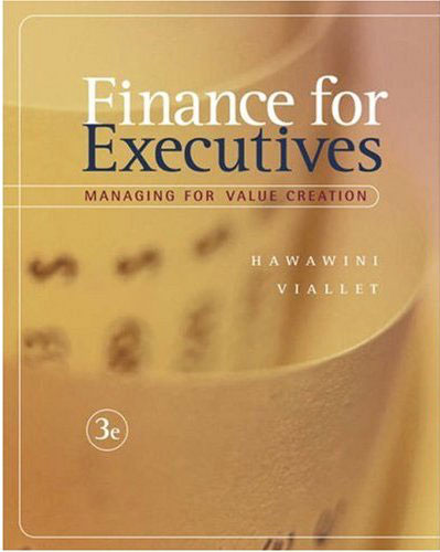 Hawawini and viallet finance for executives
